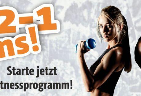 3-2-1 deins! Starte jetzt Dein Fitnessprogramm!